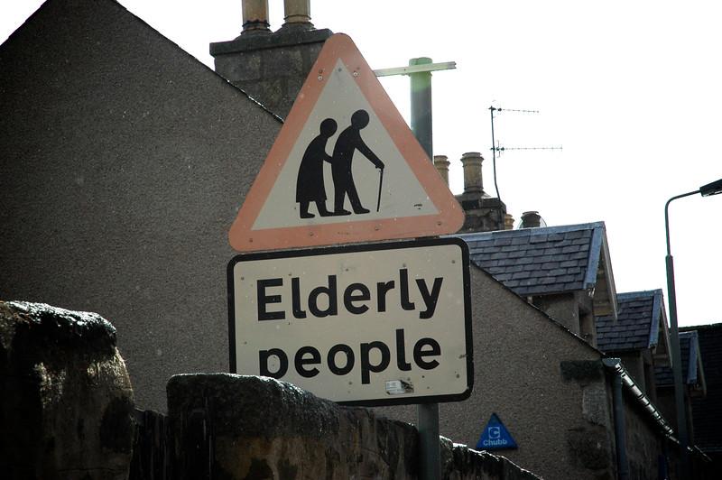 Elderly People Sign - Huntly, Scotland